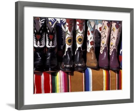 Cowboy Boots Detail, Santa Fe, New Mexico, USA-Judith Haden-Framed Art Print