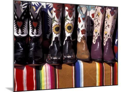 Cowboy Boots Detail, Santa Fe, New Mexico, USA-Judith Haden-Mounted Photographic Print