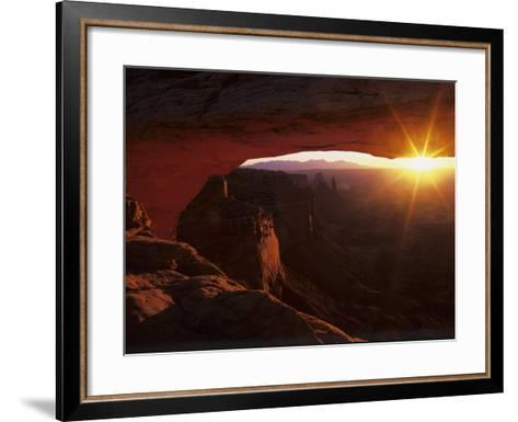 Sunrise in the Desert, Mesa Arch, Island in the Sky, Canyonlands National Park, Utah, USA-Jerry Ginsberg-Framed Art Print