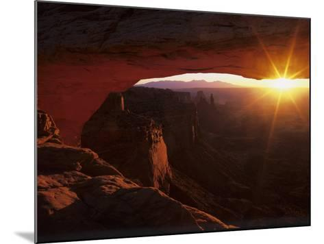 Sunrise in the Desert, Mesa Arch, Island in the Sky, Canyonlands National Park, Utah, USA-Jerry Ginsberg-Mounted Photographic Print