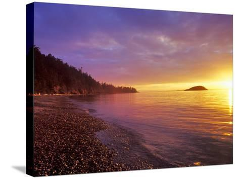 Sunset at North Beach at Deception Pass State Park, Washington, USA-Chuck Haney-Stretched Canvas Print