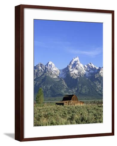 Morning Light on the Tetons and Old Barn, Grand Teton National Park, Wyoming, USA-Howie Garber-Framed Art Print