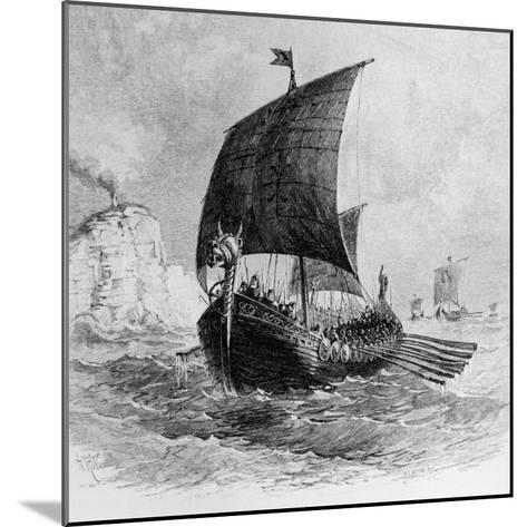The Danish Ship Called the Raven, Viking Ship, Pre-800 AD--Mounted Photographic Print