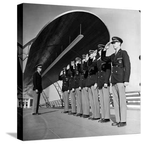 Uniformed Tour Guides Lined Up For Inspection at the 1939 New York World's Fair-Alfred Eisenstaedt-Stretched Canvas Print