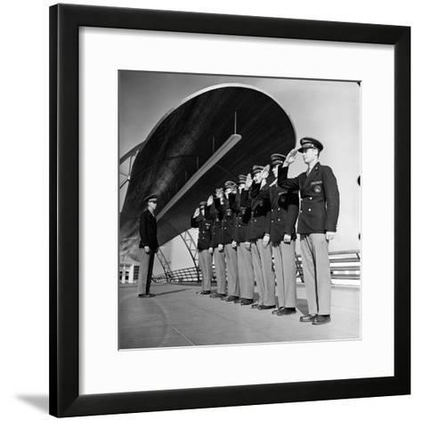 Uniformed Tour Guides Lined Up For Inspection at the 1939 New York World's Fair-Alfred Eisenstaedt-Framed Art Print