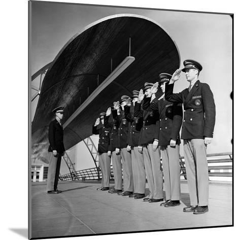 Uniformed Tour Guides Lined Up For Inspection at the 1939 New York World's Fair-Alfred Eisenstaedt-Mounted Photographic Print