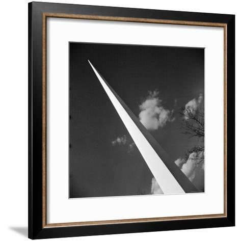 View of the Iconic Trylon on the Grounds of the 1939 New York World's Fair-Alfred Eisenstaedt-Framed Art Print