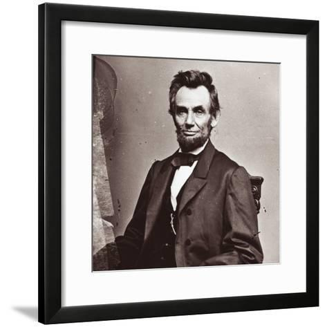President Abraham Lincoln's Second Inauguration, Wearing a Coat Crafted For Him by Brooks Brothers-Mathew Brady-Framed Art Print