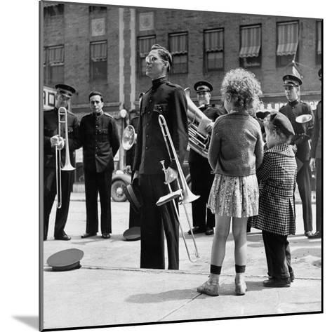 The Salvation Army Band Playing Their Instruments on the City Street-Bernard Hoffman-Mounted Photographic Print