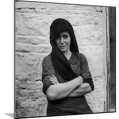 Greek Girl Still Weeping, Four Months After the Germans Killed Her Mother in a Massacre-Dmitri Kessel-Mounted Photographic Print