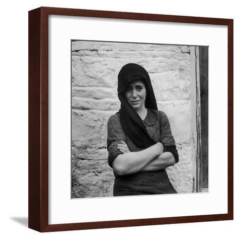 Greek Girl Still Weeping, Four Months After the Germans Killed Her Mother in a Massacre-Dmitri Kessel-Framed Art Print