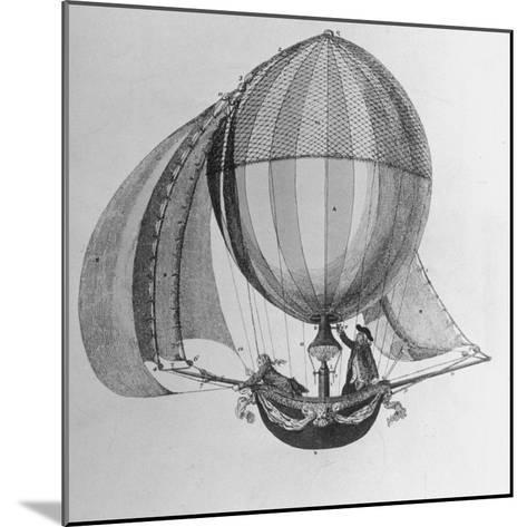 Eighteenth Century Drawing of Hot Air Balloon Steered by Sails--Mounted Photographic Print