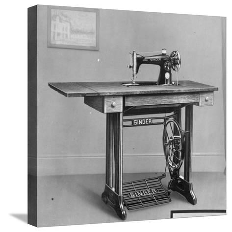 Pedal Foot Singer Sewing Machine--Stretched Canvas Print