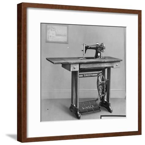Pedal Foot Singer Sewing Machine--Framed Art Print