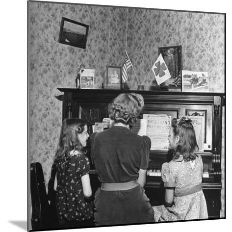 Patricia Colleen Altree Playing the Piano with Her Two Sisters-J^ R^ Eyerman-Mounted Photographic Print