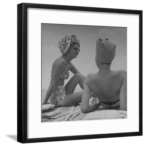 Wives of Men in the Us Army and Navy Relaxing in the Sun-Peter Stackpole-Framed Art Print