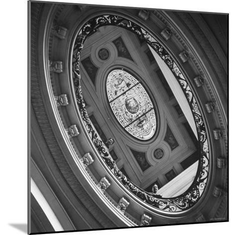 View of a Gorgeous Stained Glass Window in the Ceiling-Ralph Morse-Mounted Photographic Print