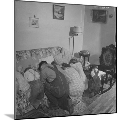 Charles C. Todd and His Family, Praying in the Morning Before Breakfast-Wallace Kirkland-Mounted Photographic Print