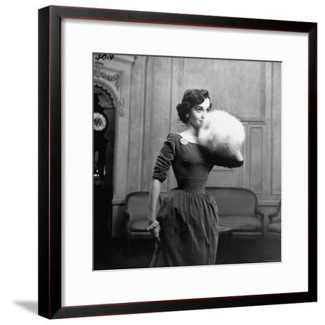 Woman Modeling a Party Dress-Nina Leen-Framed Art Print