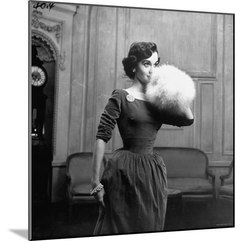 Woman Modeling a Party Dress-Nina Leen-Mounted Photographic Print
