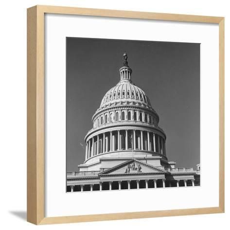 Excellent Monumental View of the Capitol Building and Dome, Showing the Central Section-Walker Evans-Framed Art Print
