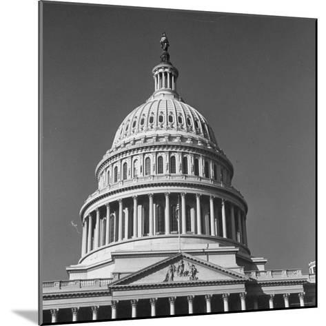 Excellent Monumental View of the Capitol Building and Dome, Showing the Central Section-Walker Evans-Mounted Photographic Print