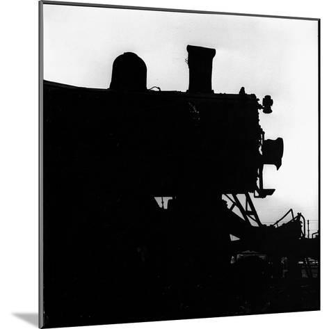 Silhouette of Last of the Steam Locomotives of Norfolk Western Railroad-Walker Evans-Mounted Photographic Print