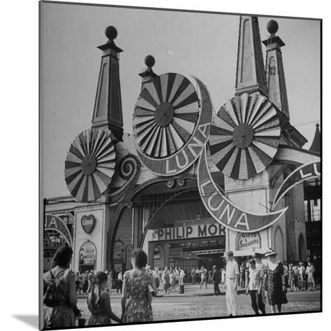 Entrance to the Luna Amusement Pavilion at Coney Island Amusement Park-Marie Hansen-Mounted Photographic Print