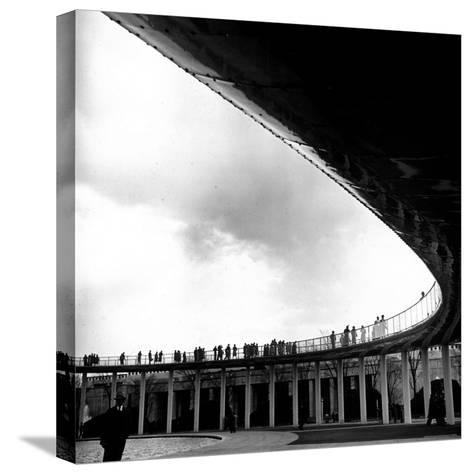 Tourists Walking About the Grounds of the New York World's Fair-David Scherman-Stretched Canvas Print