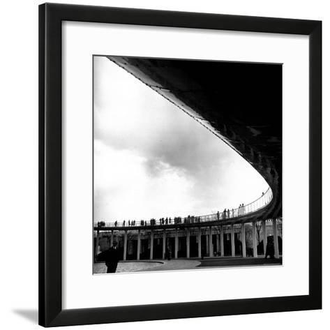 Tourists Walking About the Grounds of the New York World's Fair-David Scherman-Framed Art Print