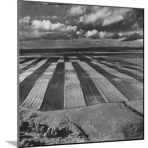 Aerial View of Farmland-Stan Wayman-Mounted Photographic Print