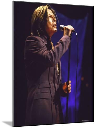 Singer David Bowie Performing-Dave Allocca-Mounted Premium Photographic Print