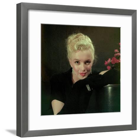 Portrait of Actress Marilyn Monroe-Ed Clark-Framed Art Print