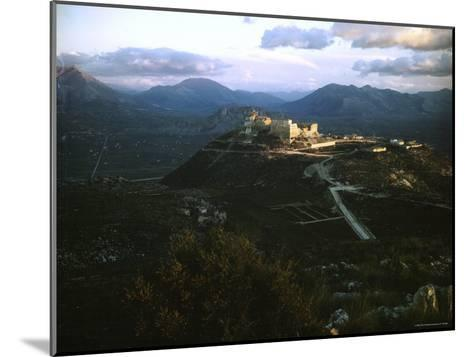Apennine Mountains Surround Benedictine Abbey of Montecassino on Top of Hill-Jack Birns-Mounted Photographic Print