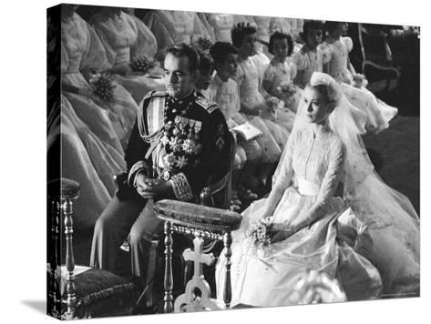 Wedding of Prince Rainier of Monaco to American Actress Grace Kelly-Thomas D^ Mcavoy-Stretched Canvas Print