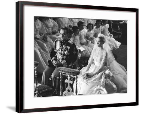 Wedding of Prince Rainier of Monaco to American Actress Grace Kelly-Thomas D^ Mcavoy-Framed Art Print