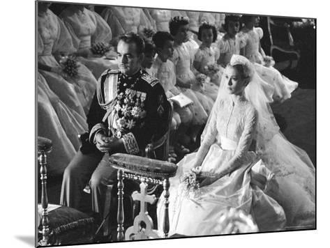 Wedding of Prince Rainier of Monaco to American Actress Grace Kelly-Thomas D^ Mcavoy-Mounted Premium Photographic Print