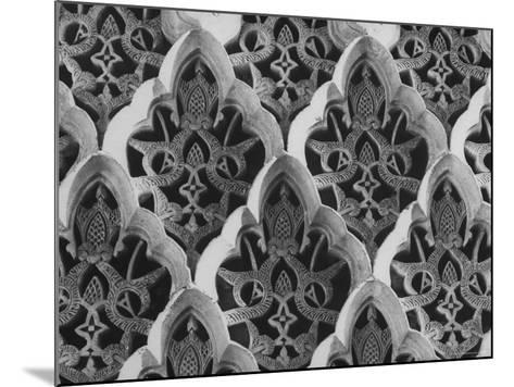 Detail Close Up of a Frieze in the Alhambra Palace, the One Time Citadel of Moorish Kings-David Lees-Mounted Photographic Print