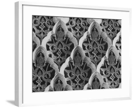 Detail Close Up of a Frieze in the Alhambra Palace, the One Time Citadel of Moorish Kings-David Lees-Framed Art Print