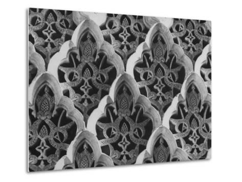Detail Close Up of a Frieze in the Alhambra Palace, the One Time Citadel of Moorish Kings-David Lees-Metal Print