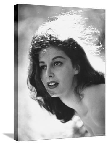 Actress Pier Angeli, 22, Posing in the Woods-Allan Grant-Stretched Canvas Print