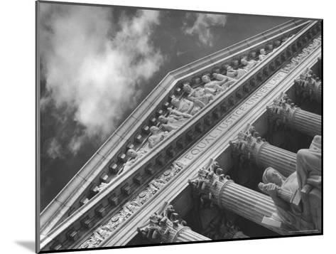 Sculptured Frieze of the US Supreme Court Building Emblazoned with Equal Justice under Law-Margaret Bourke-White-Mounted Photographic Print