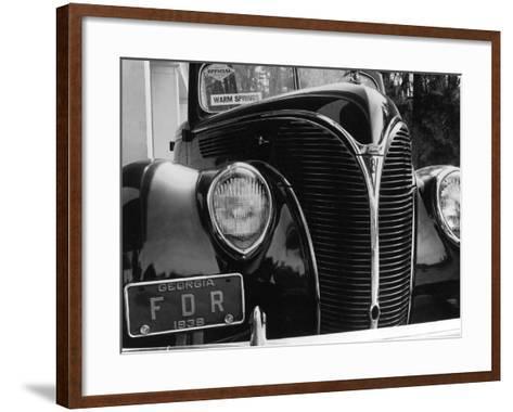 President Franklin Roosevelt's 1938 Ford Sedan-Margaret Bourke-White-Framed Art Print