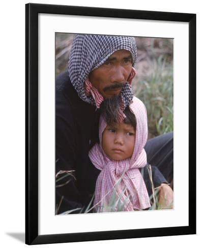 Vietnamese Refugees Rounded Up by US Marines During Operation Deckhouse V, Returning From Cambodia-Larry Burrows-Framed Art Print