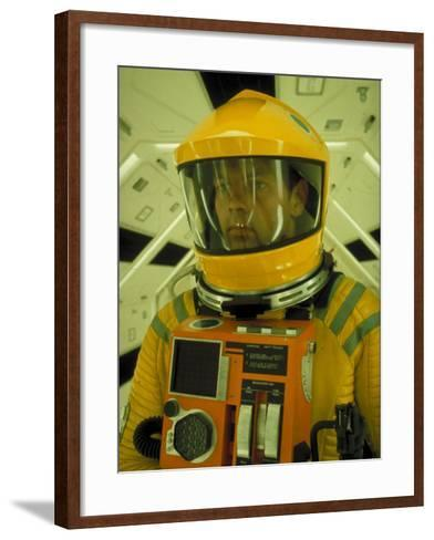 """Close Up Portrait of Actor in Astronaut Suit on the Set of the Movie """"2001: A Space Odyssey""""-Dmitri Kessel-Framed Art Print"""