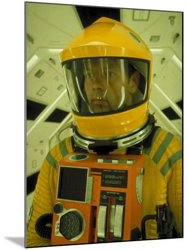 """Close Up Portrait of Actor in Astronaut Suit on the Set of the Movie """"2001: A Space Odyssey""""-Dmitri Kessel-Mounted Premium Photographic Print"""