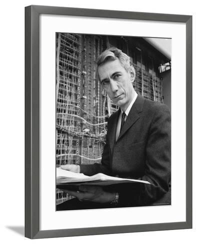 Mathematician Claude E. Shannon, Inventor of Information Theory-Alfred Eisenstaedt-Framed Art Print