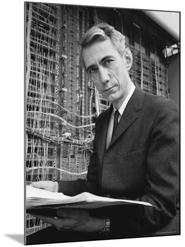 Mathematician Claude E. Shannon, Inventor of Information Theory-Alfred Eisenstaedt-Mounted Premium Photographic Print