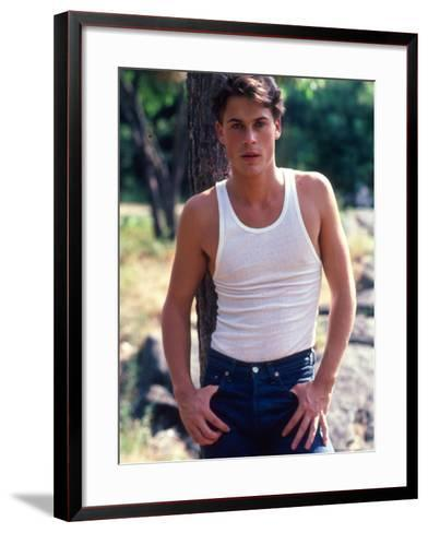 Actor Rob Lowe-David Mcgough-Framed Art Print