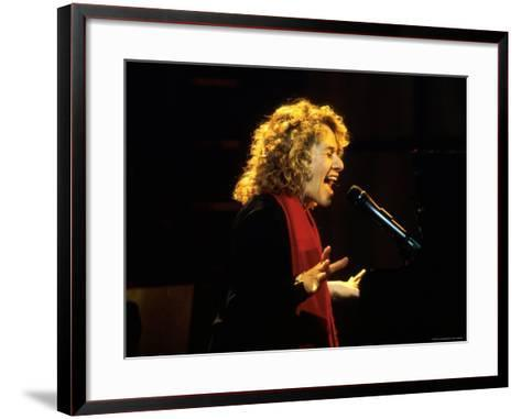 Singer and Songwriter Carole King Performing-Marion Curtis-Framed Art Print